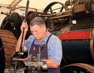 Roger repairing